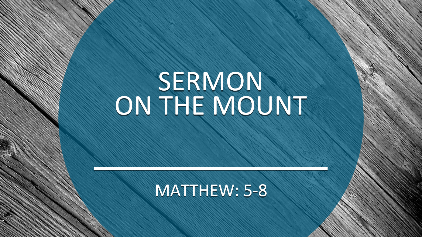 The Sermon on the Mount –  Giving, Praying, Fasting