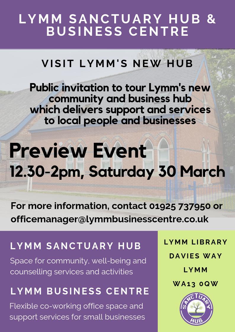Lymm Sanctuary Hub & Business Centre Preview Event