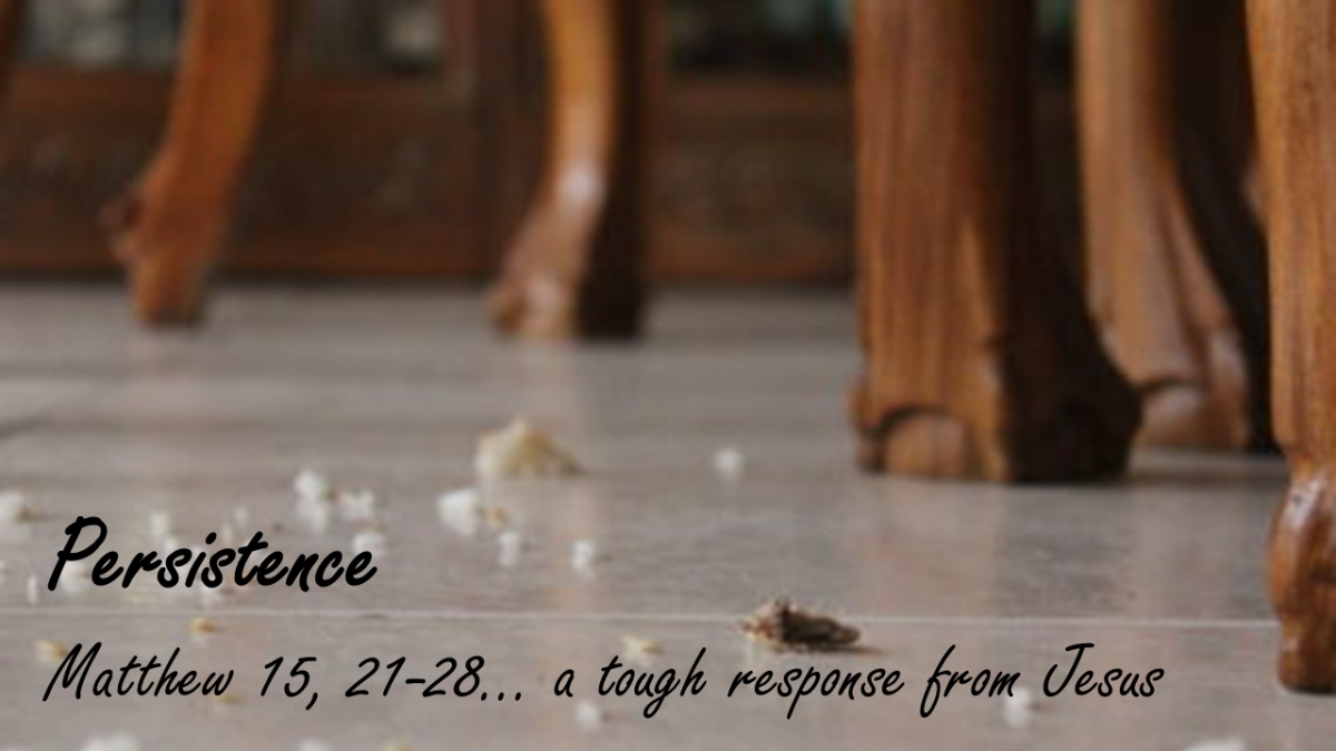 Persistence … a tough response from Jesus